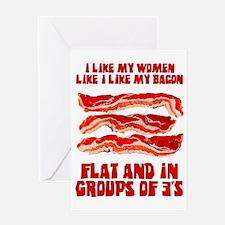 women-bacon Greeting Card
