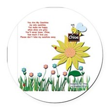 Chloe box Round Car Magnet