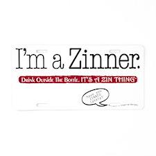 ImaZinner_0410wht Aluminum License Plate