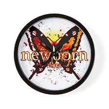 twilight newborn butterfly 2 copy Wall Clock