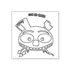 "skull_cafeP2outline Square Sticker 3"" x 3"""
