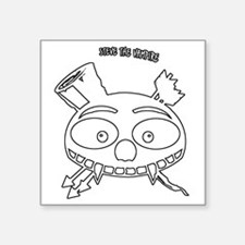 "skull_cafeP2outline Square Sticker 3"" x 3"""