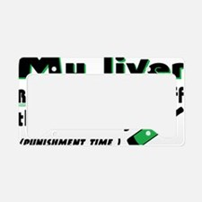 liver [Converted] License Plate Holder