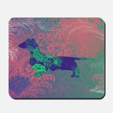 doxie silhouettecolor Mousepad