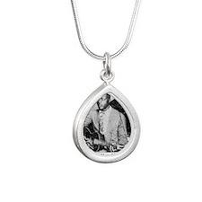 blindwilliejohnsonbig Silver Teardrop Necklace