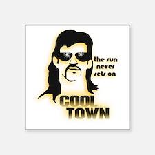 "CoolTown Square Sticker 3"" x 3"""