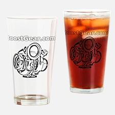 BoostGear - Cartoon Turbo - Black S Drinking Glass