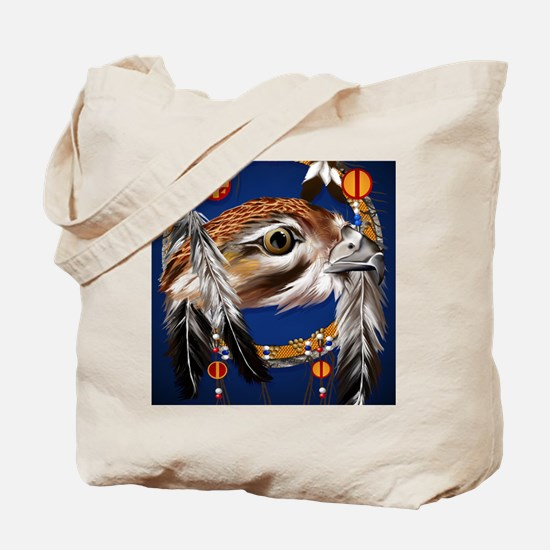 Hawk Face Dream Catcher PosterP Tote Bag