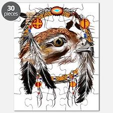 Hawk Face Dream Catcher Trans Puzzle
