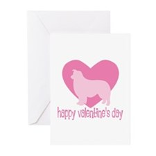 Border Collie Valentine Greeting Cards (Package of