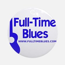 2-full-time blues-logo-large-ALTERN Round Ornament