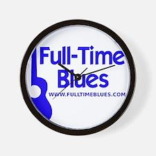 2-full-time blues-logo-large-ALTERNATE Wall Clock