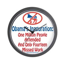 Million People Attended Obamas Inagurat Wall Clock