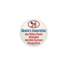 Million People Attended Obamas Inagura Mini Button