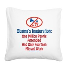 Million People Attended Obama Square Canvas Pillow