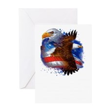 Eagle life Liberty Greeting Card