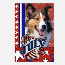 July_4_Firecracker_Shelti Postcards (Package of 8)