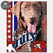 July_4_Firecracker_Labrador_Chocolate Puzzle