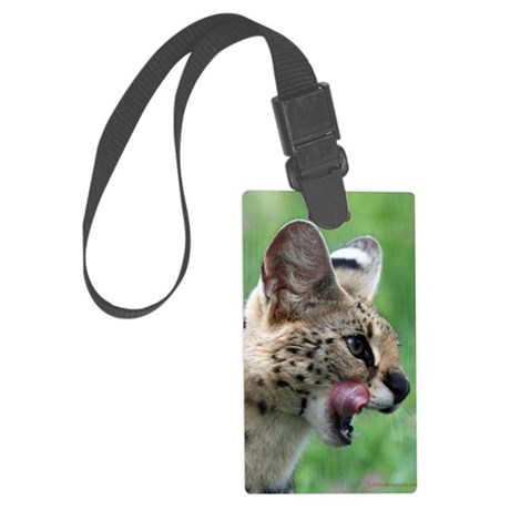 Serval Cat Large Luggage Tag