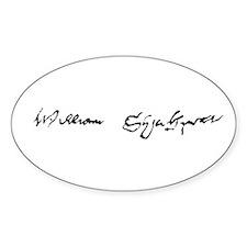 Shakespeare Signature Decal