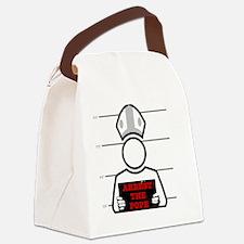 arrestpope_button Canvas Lunch Bag