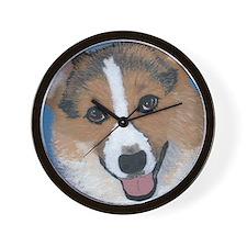 Tri Colored Pembroke Welsh Corgi Wall Clock
