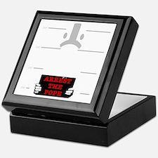 arrestpope_black Keepsake Box