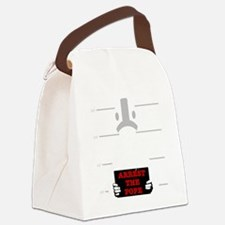 arrestpope_black Canvas Lunch Bag