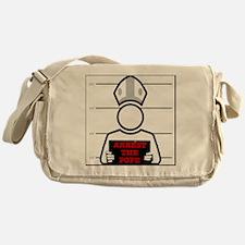 arrestpope_white Messenger Bag