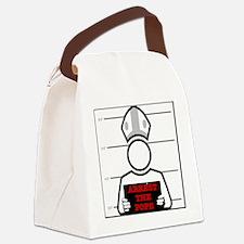 arrestpope_white Canvas Lunch Bag