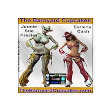 "TheBarnyardCupcakes Square Sticker 3"" x 3"""