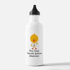 AsthmaAwarenessRibbonC Water Bottle