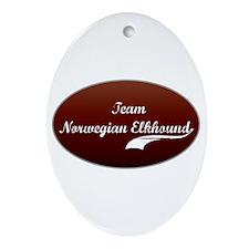 Team Elkhound Oval Ornament