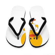 AsthmaAwarenessRibbonChickDkT Flip Flops