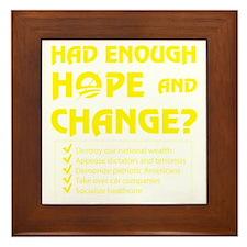 Had Enough Hope  Change? Framed Tile