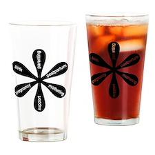 MamaFlowerBW Drinking Glass