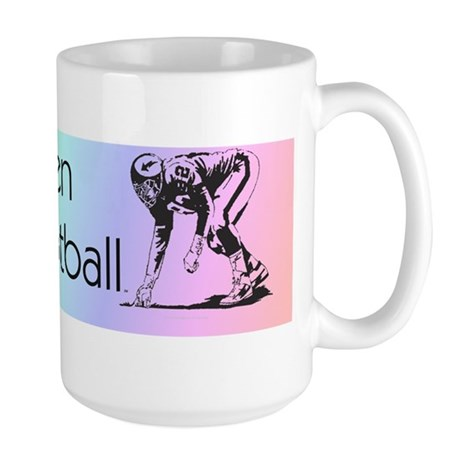watchfootballwbumper Large Mug