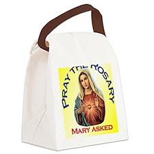 pray_ornament_tall_circle_yellow Canvas Lunch Bag