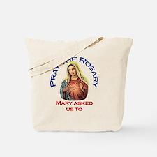 pray_ornament_tall_circle Tote Bag