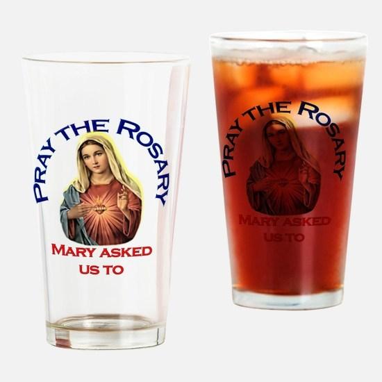 pray_ornament_tall_circle Drinking Glass