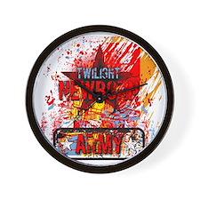 twilight newborn army grunge design Wall Clock