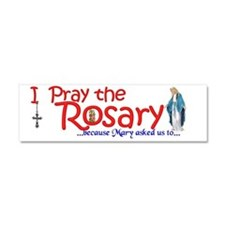 pray_bumper_sign_white Car Magnet 10 x 3