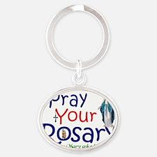 pray_big_banner Oval Keychain
