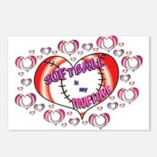 Softball True Love Postcards (Package of 8)