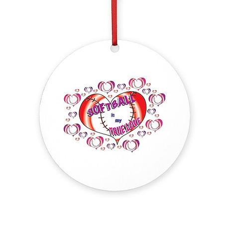 Softball True Love Ornament (Round)