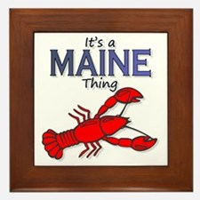 Its a Maine Thing Lobster Framed Tile