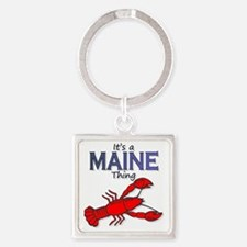 Its a Maine Thing Lobster Square Keychain