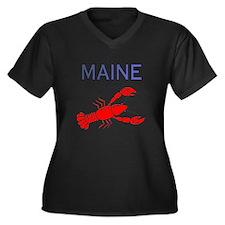 Its a Maine  Women's Plus Size Dark V-Neck T-Shirt