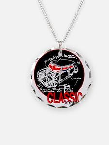 classic mini Necklace Circle Charm
