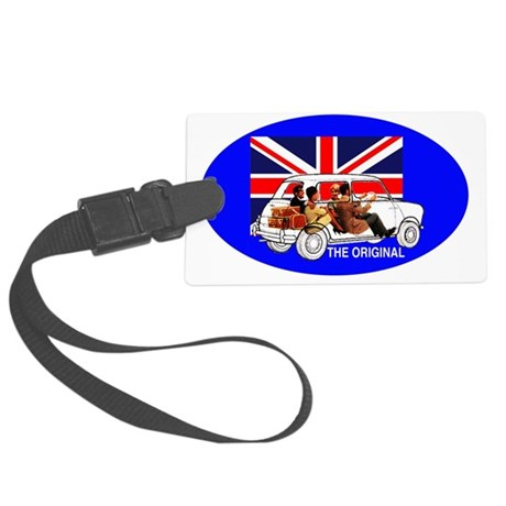 transperent oval Large Luggage Tag